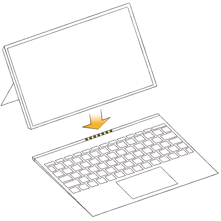 2 in 1タブレットPCの図